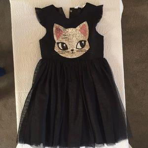 Girls H&M black cat dress and bolero cardigan set